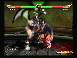 Mortal Kombat Armageddon-Onaga Vs Goro - YouTube
