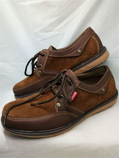 Pantofel Mocassin Coklat jual sepatu casual semi pantofel kulit kickers coklat di