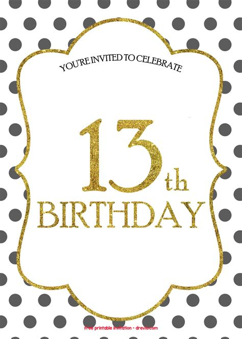 birthday invitations templates  printable