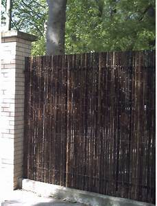 Bambou Noir Prix : bambou jardin cloture brise vue en bambou noir naturel ~ Teatrodelosmanantiales.com Idées de Décoration