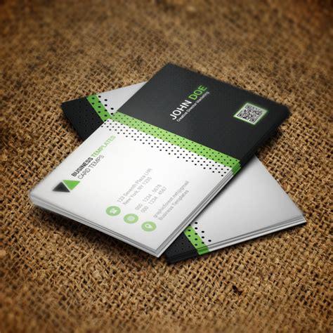 green business card psd template template