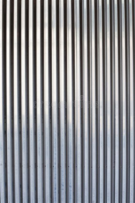 chrome ribbed metal sheet stock photo image