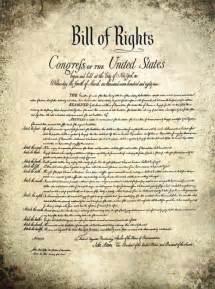 Printable Bill of Rights Amendments