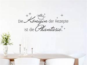 Sprüche Für Die Küche : wandtattoo f r k che spruch die k nigin der rezepte ~ Watch28wear.com Haus und Dekorationen