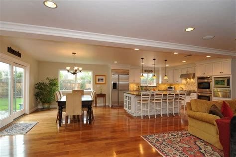 Ideas For Kitchen And Family Room by Open Floor Plan Kitchen Family Room Dining Room