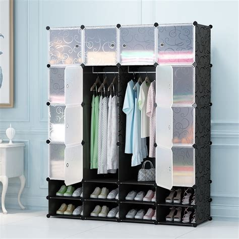 Wardrobe Closet For Hanging Clothes by Folding Wardrobe Foldable Portable Diy Wardrobe For