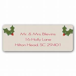 holly christmas return address labels paperstyle With christmas return address stickers