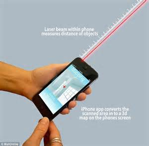 measure distance with iphone apple is developing an iphone that fires laser beams to