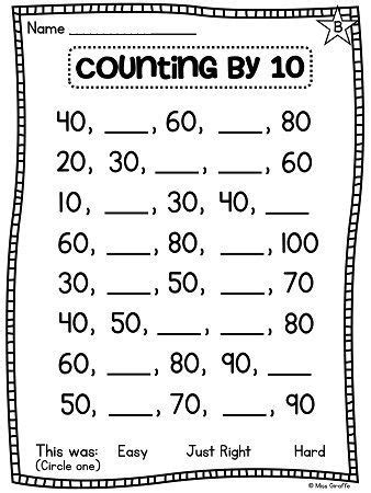 First Grade Math Unit 11 Comparing Numbers Skip Counting And Number Order  Worksheets, Count