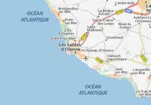 map of les sables d olonne michelin les sables d olonne map viamichelin