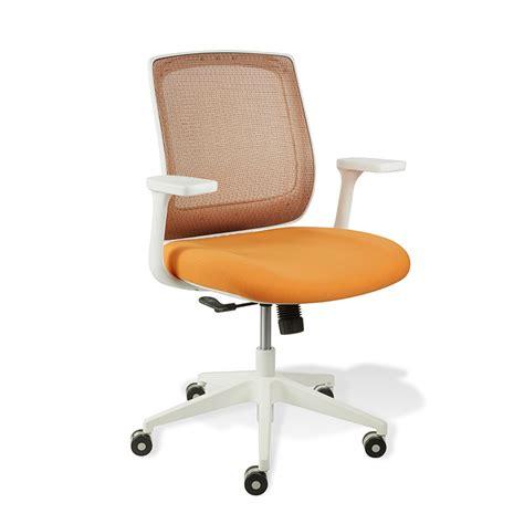camilla mesh office chair orange white modern office