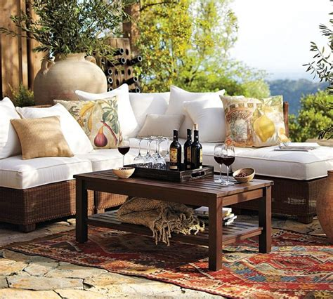 stunning contemporary woven rattan sofa pottery barn