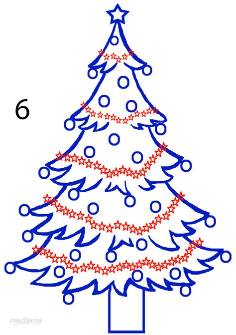 how to draw christmas tree how to draw a tree step by step pictures cool2bkids