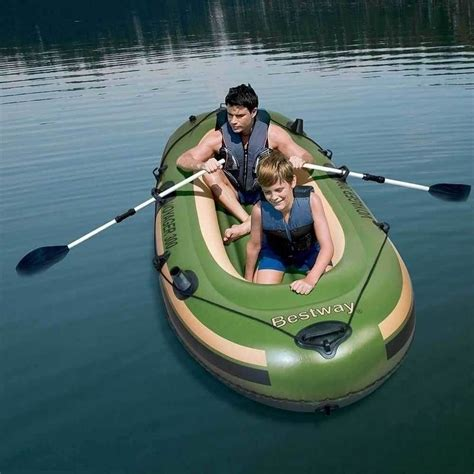 Inflatable Pool Boat With Oars by Bestway Voyager 300 Inflatable Fishing Boat W Oars Buy