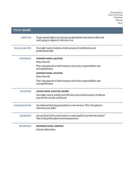 Basic Resume by Basic Resume Timeless Design