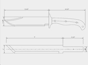 printable knife templates knife templates