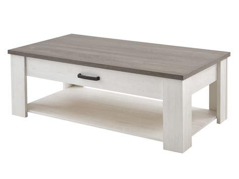 poignees meubles cuisine table basse rectangulaire avec 1 tiroir et 1 niche