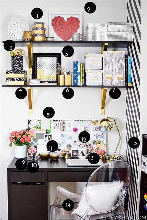 desk decor diy work space reveal homey oh my