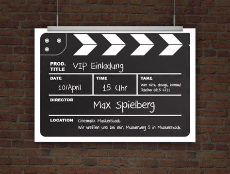 oscar selber gestalten einladungskarte kinogeburtstag als filmklappe geburtstagsvorlagen