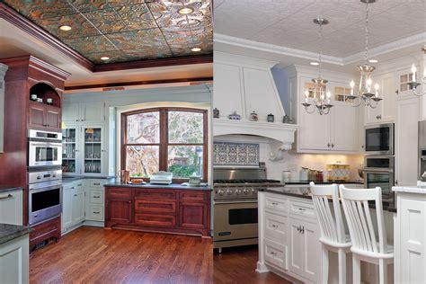 tin tiles for backsplash in kitchen vaulted ceiling archives bartelt remodeling