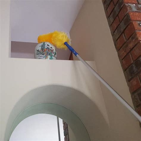 extension duster reach high ceilings touch  oranges