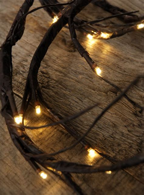 led lighted garland led brown vine garland 6 ft battery operated warm white