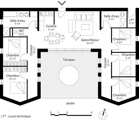 plan maison moderne 3 chambres plan de maison avec 5 chambres
