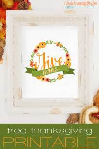 Free Printable Thanksgiving Decorations