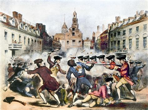 Boston Massacre by Boston Massacre 1770 Painting By Granger