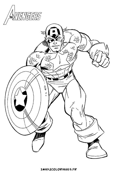 avengers simple coloring pages