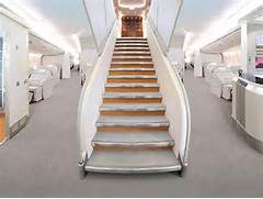 Welccome Aboard A380 Aviation Airline   AIR  FLIGHT  SHIPS  BOATS      Airbus A380 Inside Stairs
