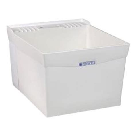 Mustee Utility Sink Home Depot by Mustee Utilatub 24 In X 20 In Structural Thermoplastic