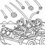 Coloring Meteor Backyardigans Designlooter Austin 300px 27kb sketch template