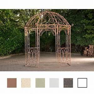 Pavillon Metall Rund : clp metall garten pavillon leila rund 229 cm h he 313 cm eisen schlichtes stilvolles ~ Eleganceandgraceweddings.com Haus und Dekorationen