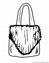 Coloring Pages Purse Printable Cliparts Shopping Purses Entertainment Graphics Cheerleader sketch template