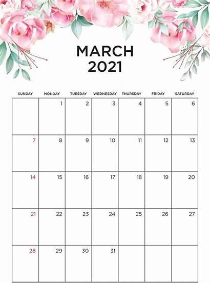 Calendar 2021 March Printable