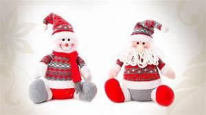 Tissu De Noel : deux personnages en tissu p re no l et bonhomme de neige ~ Preciouscoupons.com Idées de Décoration