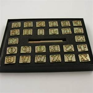 decorative alphabet letter stamps for leather 3 4quot 20mm With adjustable stamp letters