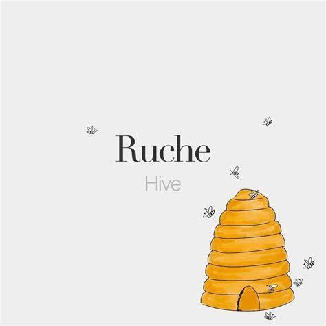 Ruche (feminine word) • Hive • /ʁyʃ/ • Drawing ...
