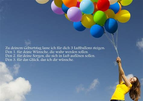 drei luftballons steigen lassen geburtstagssprueche und