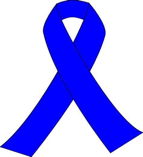 Blue Ribbon Clip Blue Awareness Ribbon Clip At Clker Vector Clip