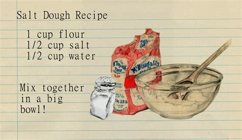 salt dough ornament recipe for crafts with tips and