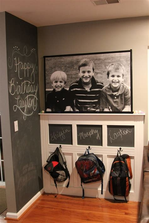 school organization create  backpack wall