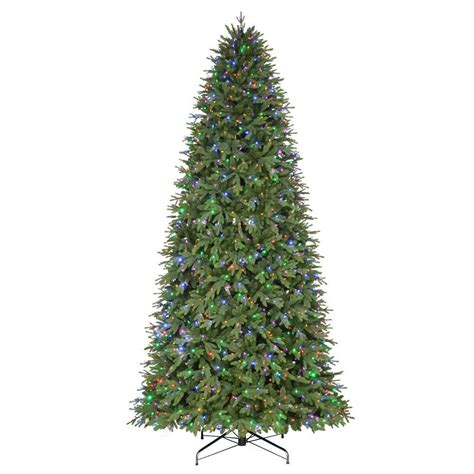 12 foot white christmas 2000 lights 12 ft pre lit led monterey fir artificial tree with color changing lights