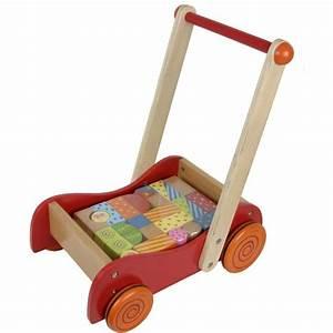 Cube En Bois Bébé : chariot de marche b b avec cubes en bois ~ Melissatoandfro.com Idées de Décoration