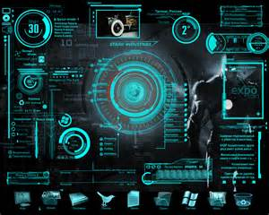 gui designer interface design what is the gui style called that is commonly used in sci fi media graphic