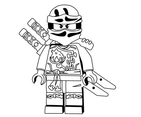 Awesome Ninjago Coloring Pages Design