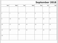 September 2018 Calendars To Print
