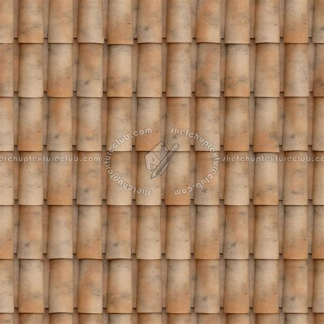 Clay roof tile King Corte D'Aragon texture seamless 03455