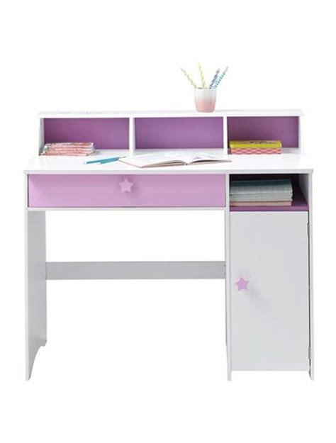 theme bureau grand bureau fille blanc thème fée blanc violet